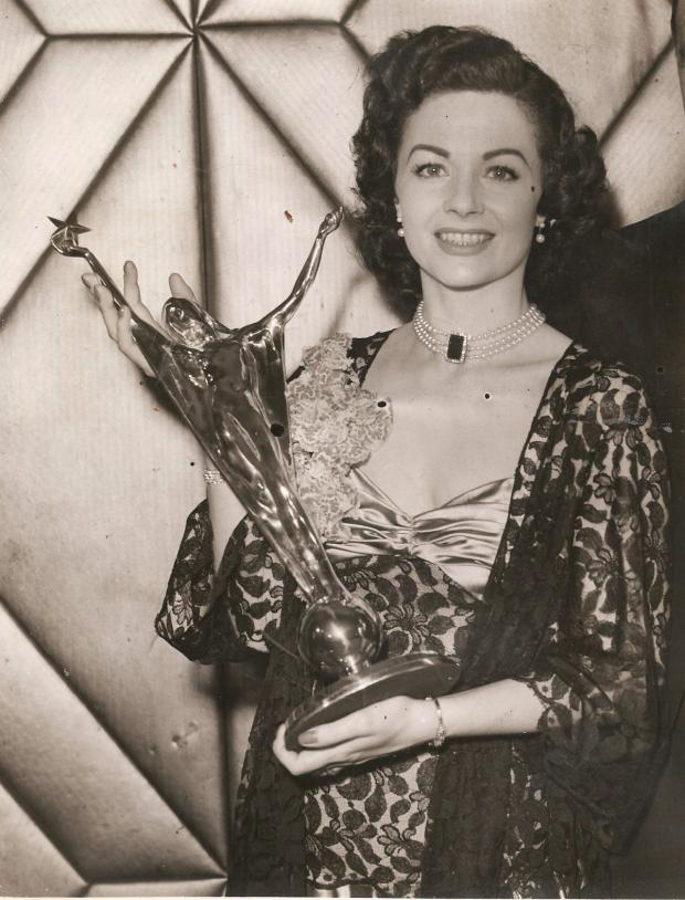 Chard & Ilminster News: MARGARET Lockwood with one of her four Daily Mail awards.