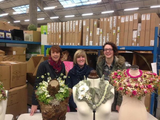 Staff from Cottage Flowers, Ilminster, in regional heats for Chelsea Flower Show