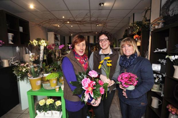 Chard & Ilminster News: ANGIE Blackwell, Jacalyn Dobson and Holly-Jane Harris at the shop in East Street. PHOTO: Steve Ri