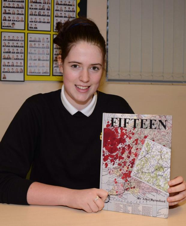 Chard & Ilminster News: ALICE Beresford with her book, Fifteen.