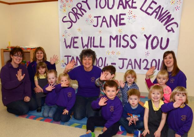LIDIA Morgan, Andrea Oakes, Jane Mitchell and Kelly Doble with pupils.