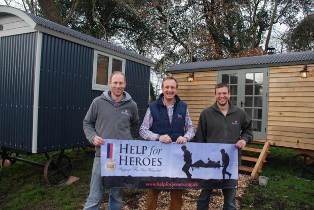 CO-founder William Vickery, Richard Lupton of Help for Heroes, and firm co-founder George Bannister.
