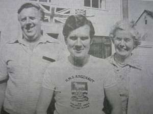 MIKE'S return was big news in the area, and he even made the News' front pages. Pictured is Mike with parents, Peter and Margaret, featuring on the News' front page on June 24 1982.