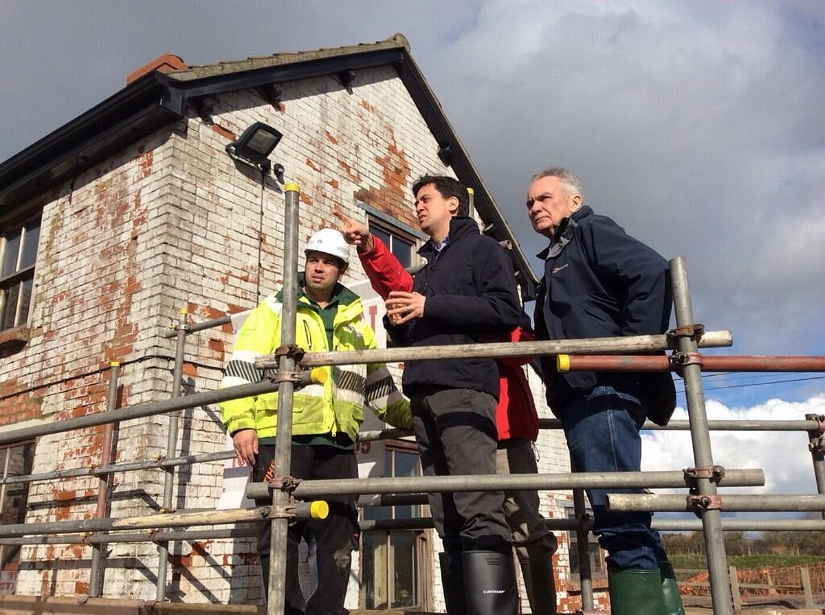 Labour leader Ed Miliband on his visit to Somerset. Photo: Ed Miliband Twitter.