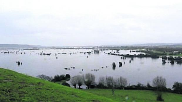 Acres of land are still under water.