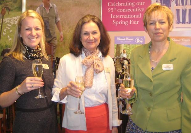 CLASSIC Canes managing partner Charlotte Gillan, founder-partner Diana Porter and customer services advisor Laura Gowers at the Spring Fair International.