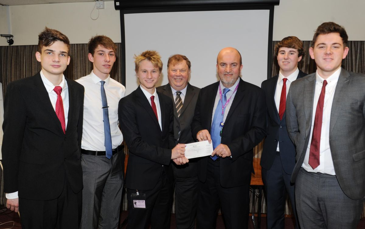 THE runners-up from Holyrood Academy with Somerset County Council road safety manager Te