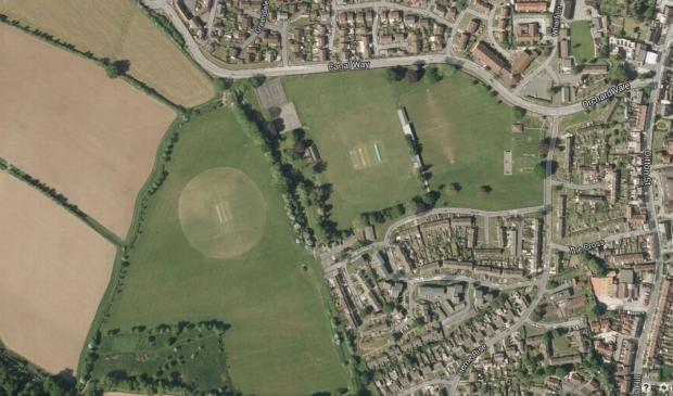 Britten's Field, left, and the Recreation Ground
