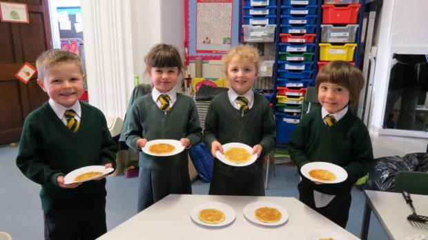 Pancake fun at Chard School