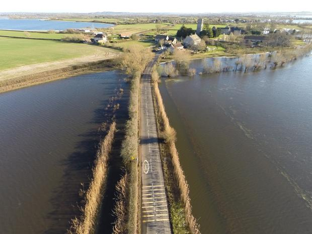 The road into Muchelney is now clear of flood water. All photos: Jeremy Pidgeon/controlthisview.co.uk