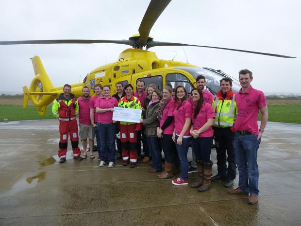 Farmers in air ambulance donation