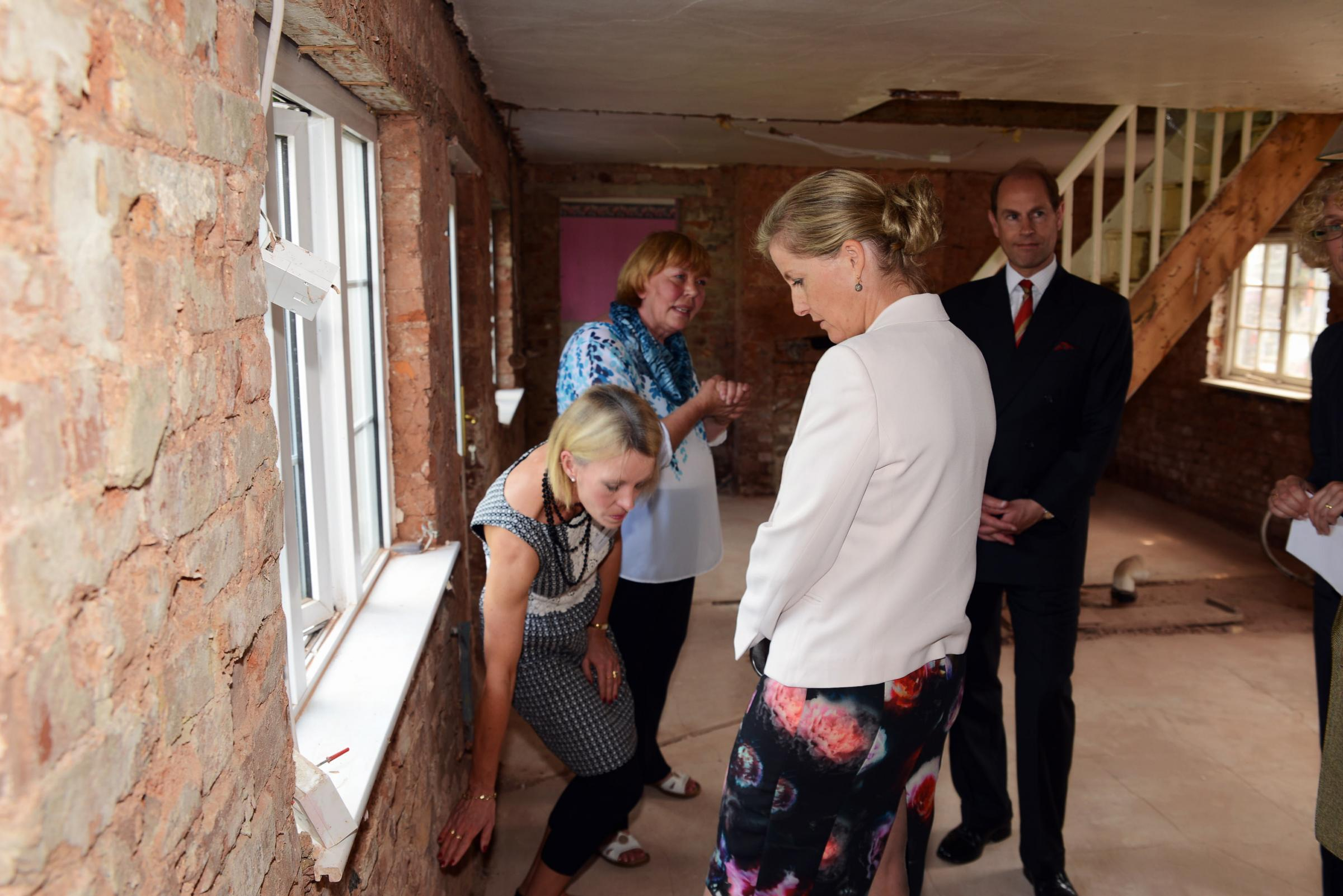 Earl and Countess of Wessex visit residents in Moorland