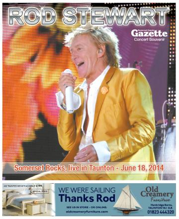 Don't miss the eight-page Rod Stewart concert souvenir in today's County Gazette
