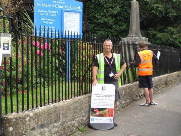 Chard & Ilminster News: Some of the offenders in action at St Mary's Church
