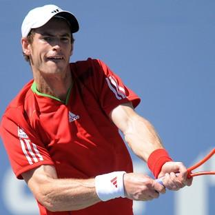 Andy Murray, pictured, was not troubled by Matthias Bachinger in New York