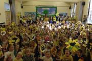Yellow theme at Manor Court Primary School for St Margaret's Hospice