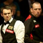 Chard & Ilminster News: Mark Williams, right, finally got the better of Ronnie O'Sullivan, left