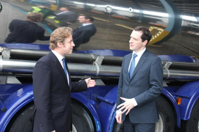 PROSPECTIVE MP Marcus Fysh with Chancellor George Osborne. PHOTO: Submitted.