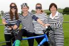 GO TO JAIL: The women's team in their go faster stripes