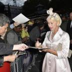 Chard & Ilminster News: Helen Mirren attending the Trumbo Premiere in london's Leicester Square (Matt Crossick/PA Wire)
