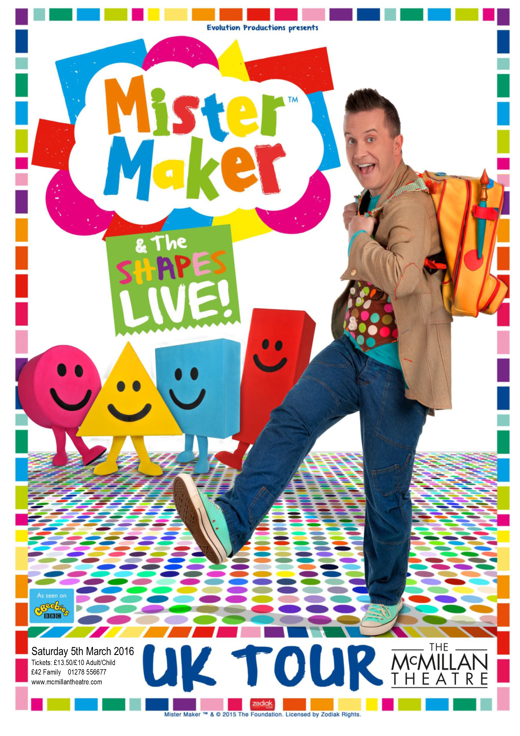 Mister Maker and The Shapes Live at The McMillan Theatre