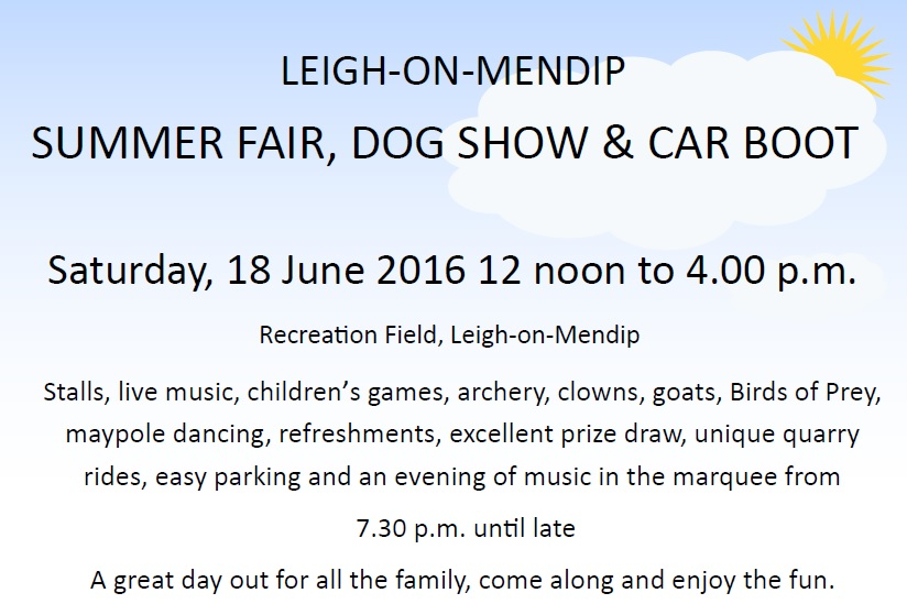 Leigh on Mendip Summer fair