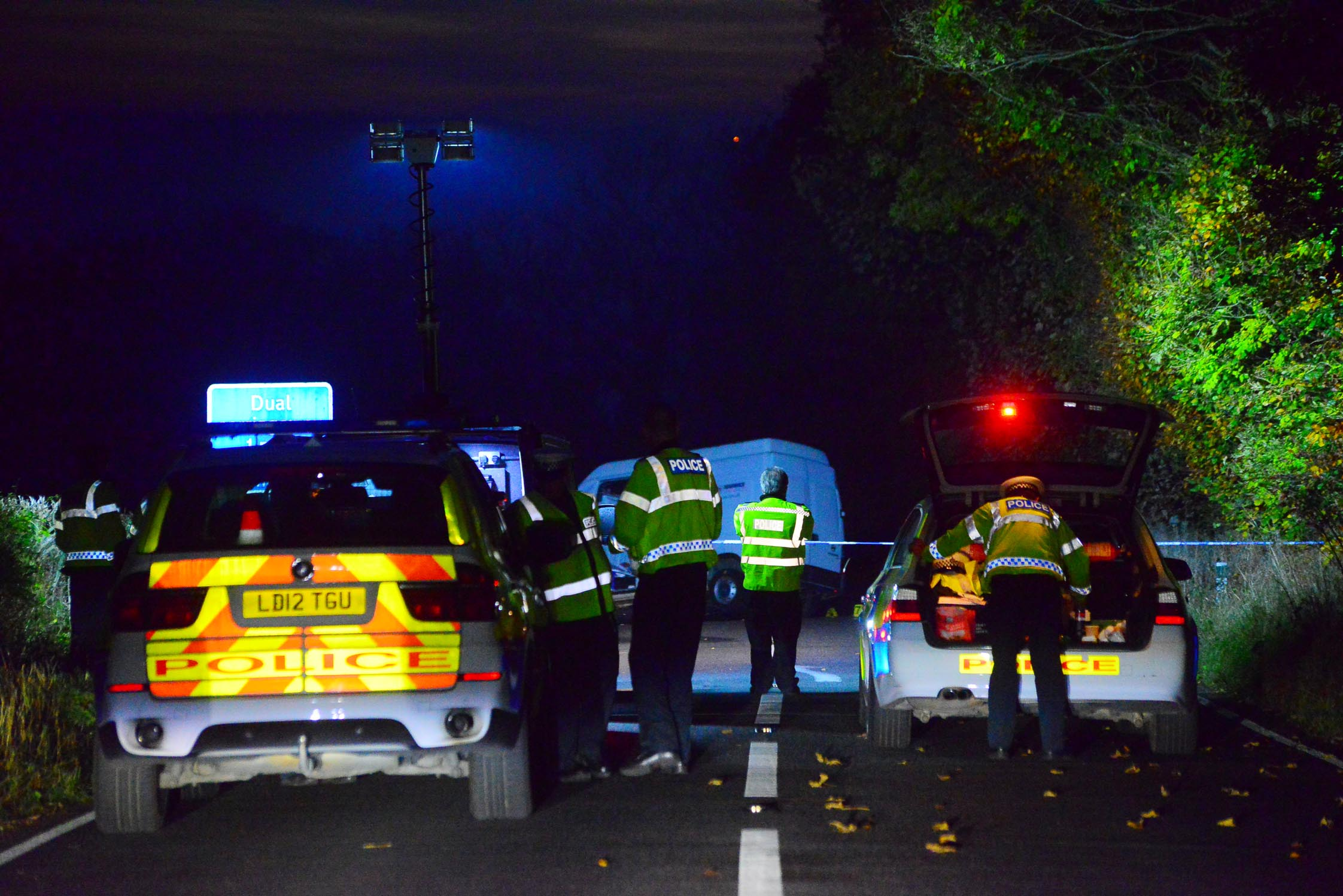 CRASH: The scene on A303 near Buckland St Mary after the crash on October 31, 2016