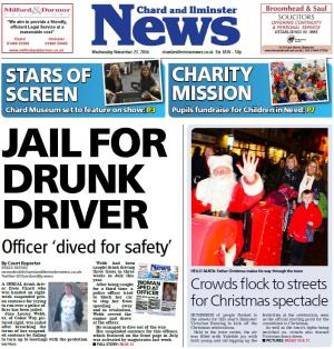 Chard & Ilminster News: Chard woman who tried to run police officer over jailed for eight weeks