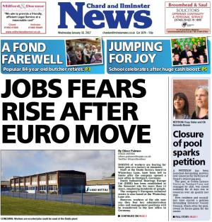 Chard & Ilminster News: JOBS AT RISK? Daido staff left fearing worst after new Europe office opens