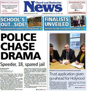 Chard & Ilminster News: Uninsured learner driver who led police on high-speed chase near Ilminster spared jail