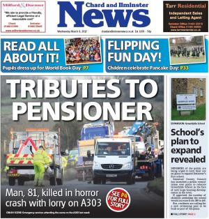 Chard & Ilminster News: Tributes given as elderly A303 crash victim named