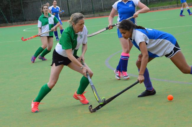BIG WIN: Chard ladies secured an emphatic - and significant - win over Burnham-on-Sea. Pic: Chard Hockey Club