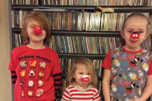 RED NOSE: Morgan Harley and Wren Birks
