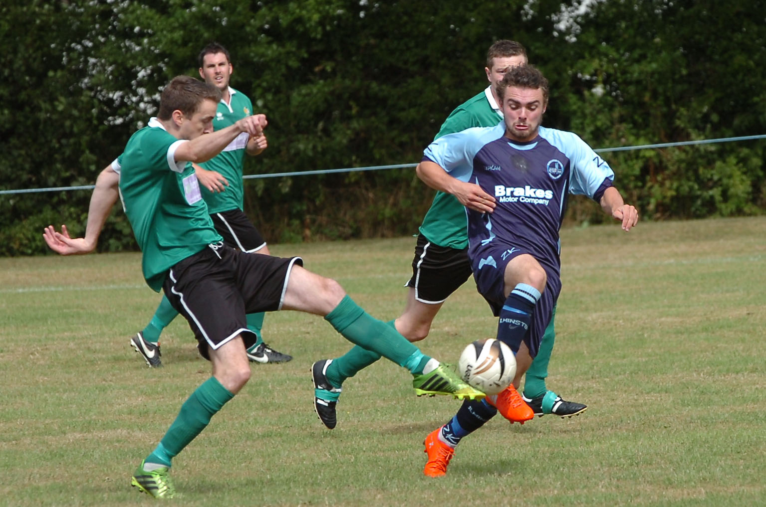 FINE WIN: Taylor Jefferson, on the scoresheet for Ilminster Town last night.