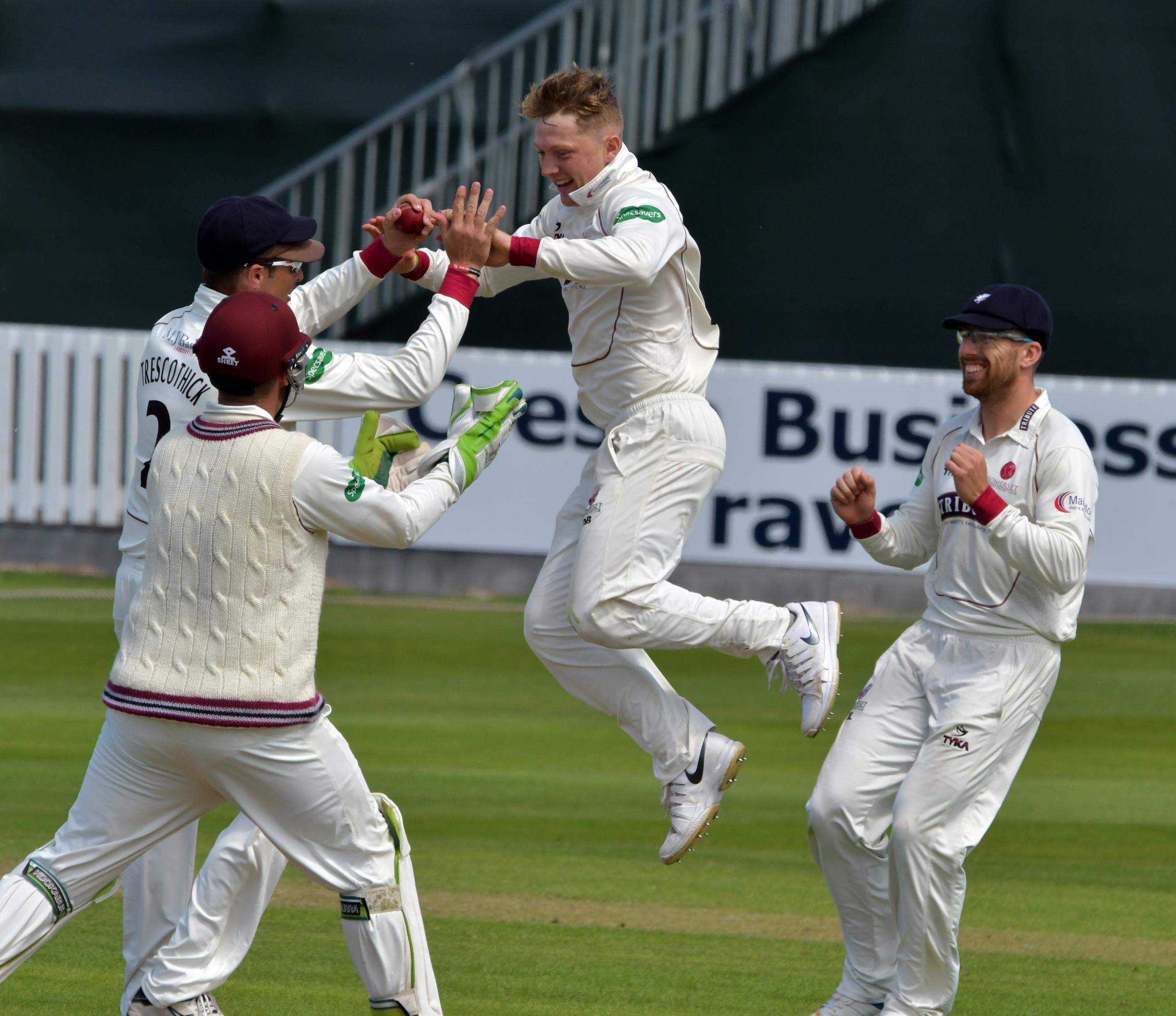 IMPACT: Young spinner Dom Bess has 49 wickets for Somerset from 12 First-Class matches. Pic: Somerset CCC