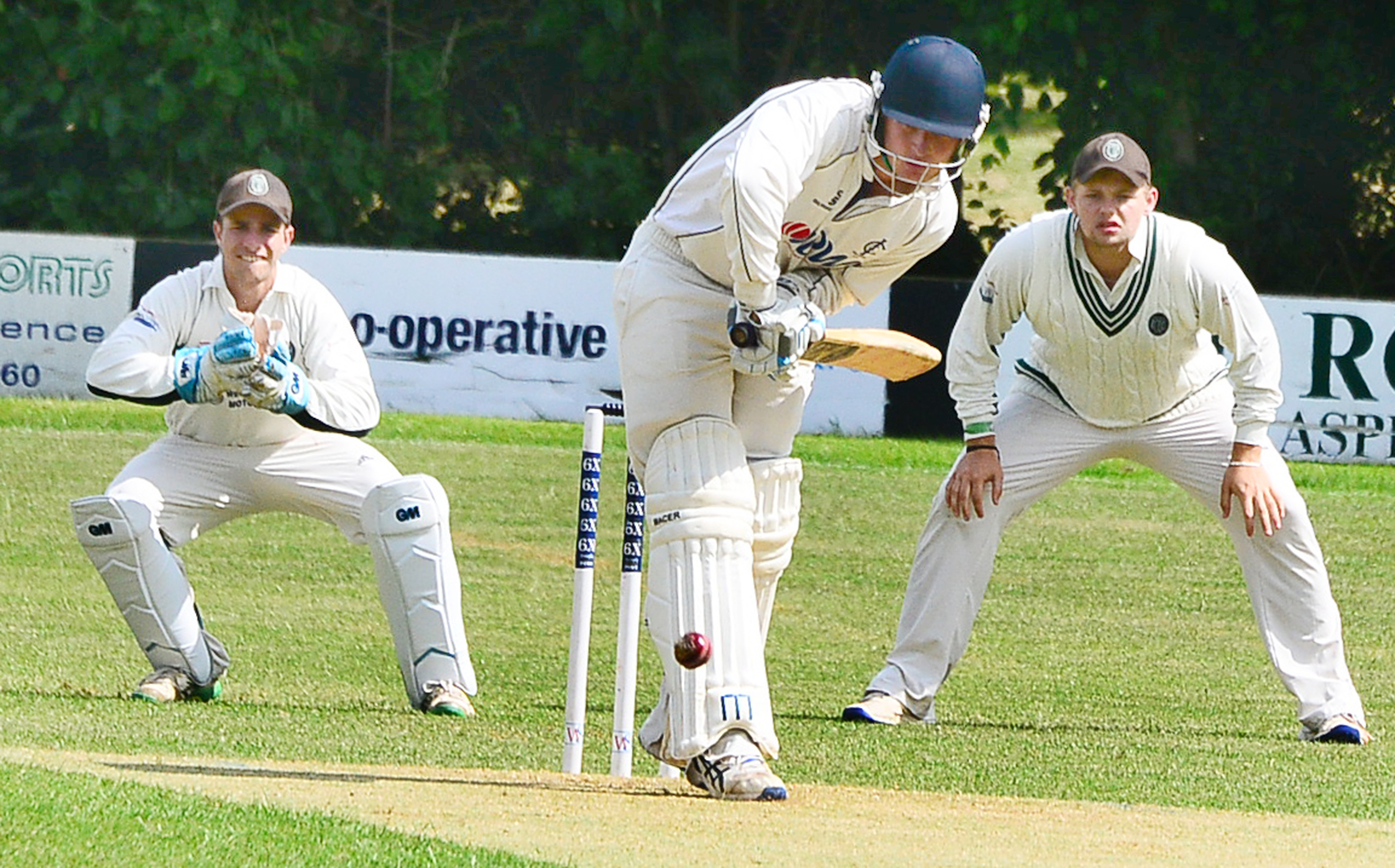 BLOW: Louis Kraucamp's 3-32 and 31 with the bat could not prevent Ilminster losing to Keynsham. Pic: Steve Richardson