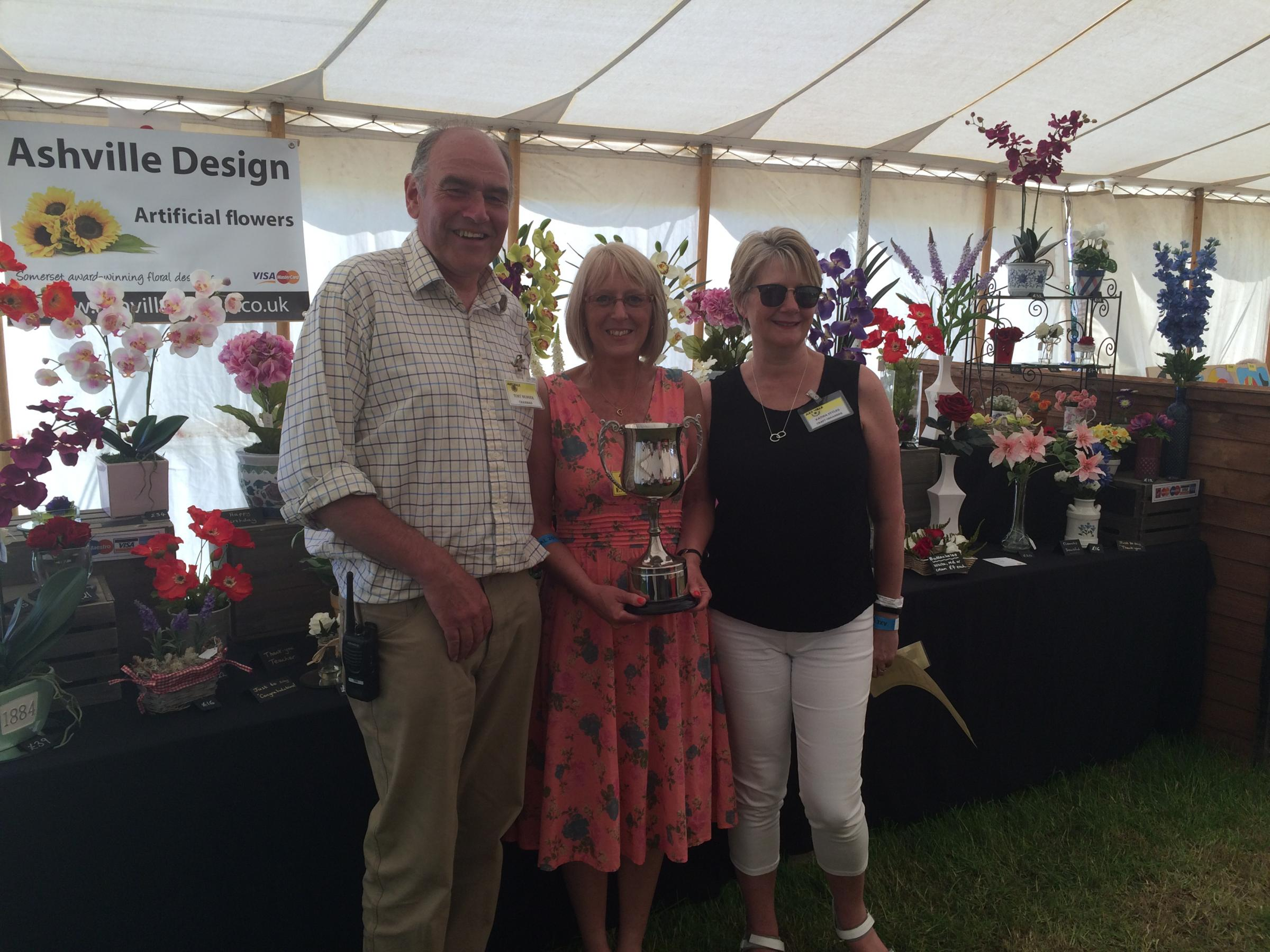 South Somerset florist Jackie Nicholls takes top prize at festival