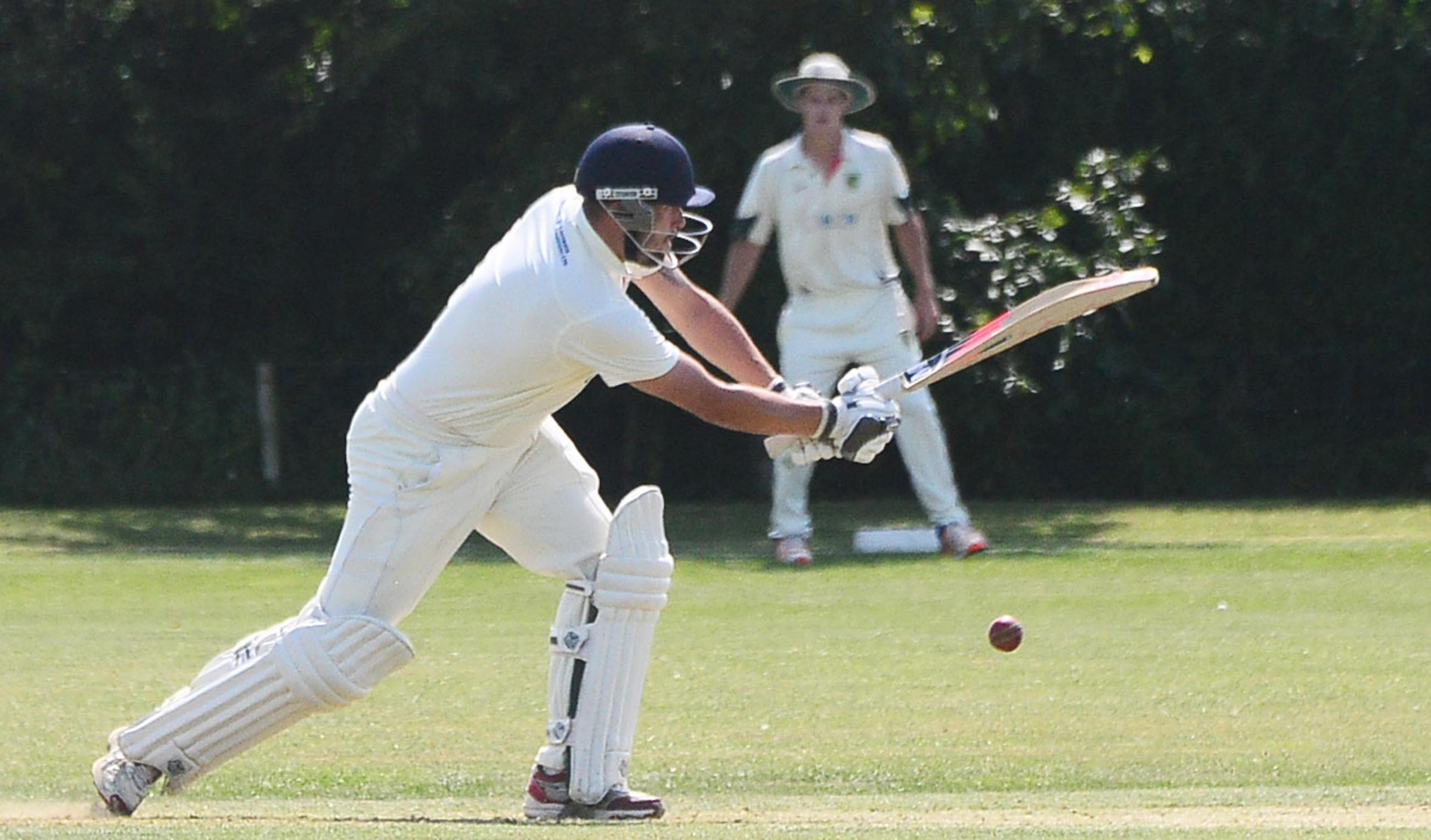 CAPTAIN: Chard skipper Scott Wells-Burr in action. Pic: Steve Richardson