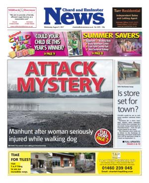 Chard & Ilminster News: ATTACK MYSTERY: Woman attacked while walking her dog in Chard