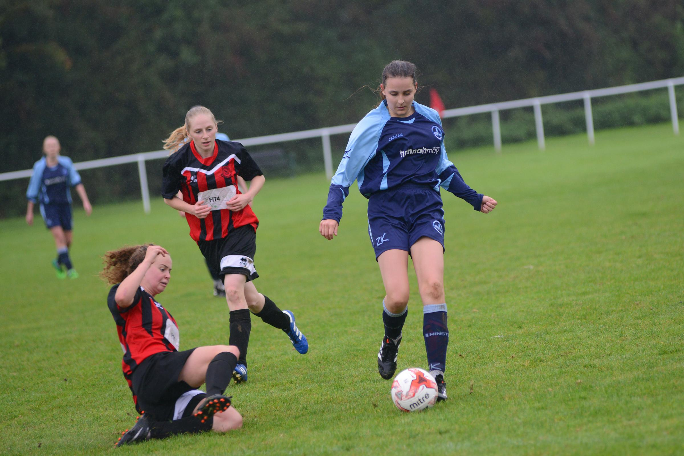 HONOURS EVEN: Ilminster Town Ladies shared the spoils with Bishops Lydeard Ladies. Pic: Ash Magill
