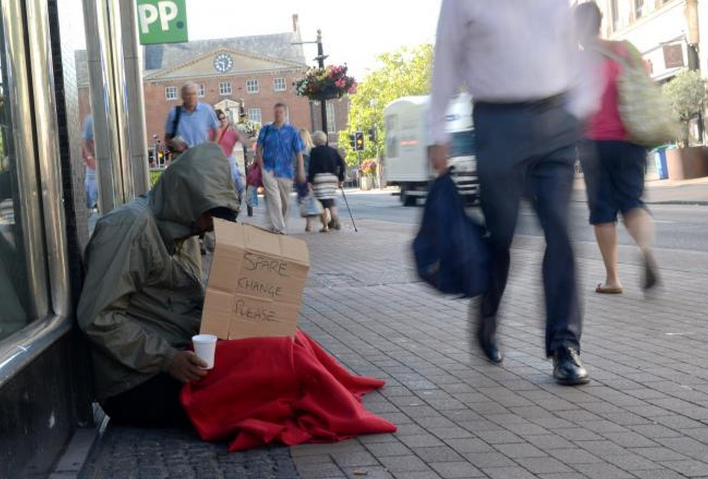 RISING NUMBERS: Taunton Deane has the highest rate of rough sleepers in Somerset