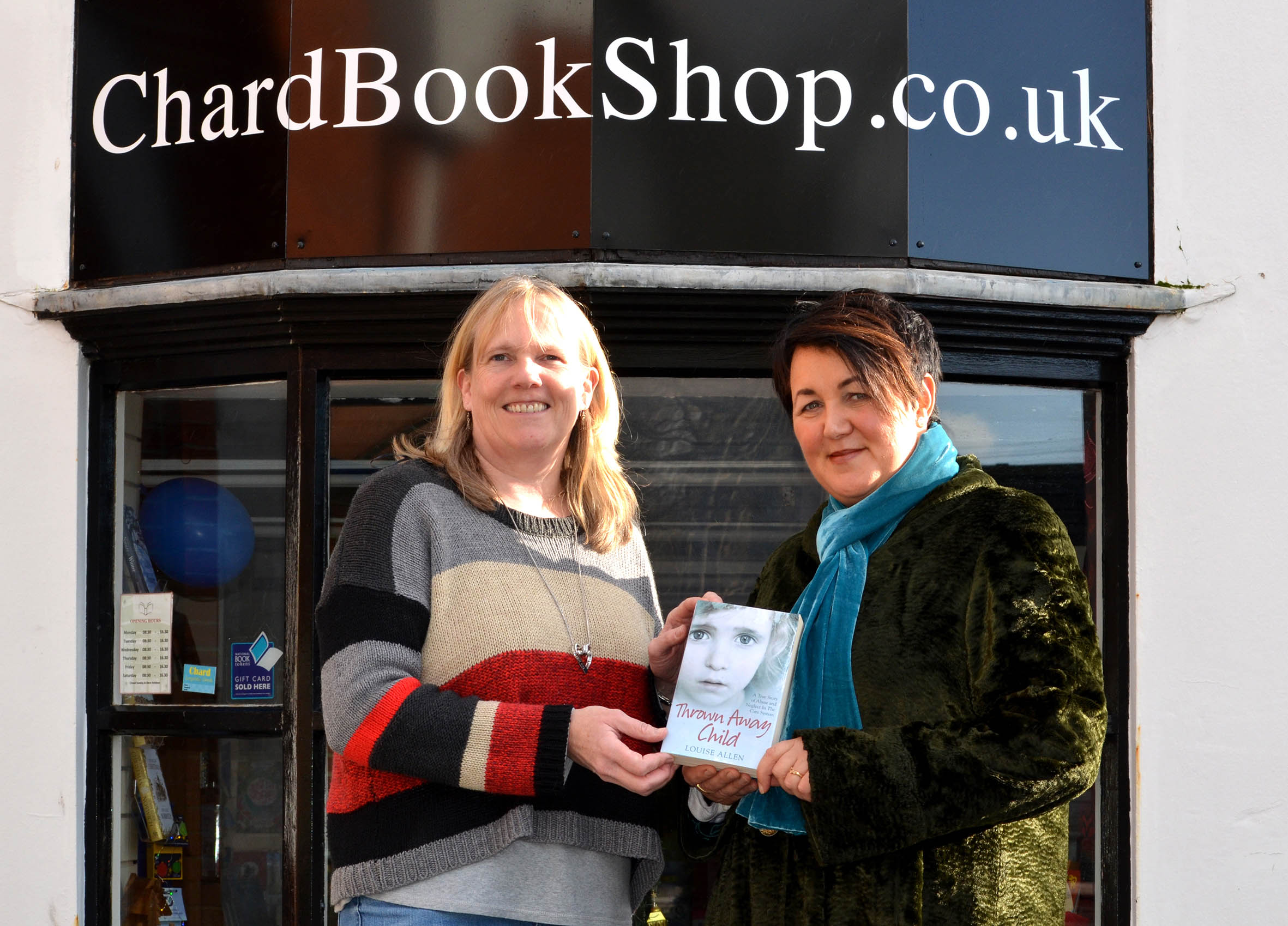Amanda Broom of ChardBookShop, and author Louise Allen