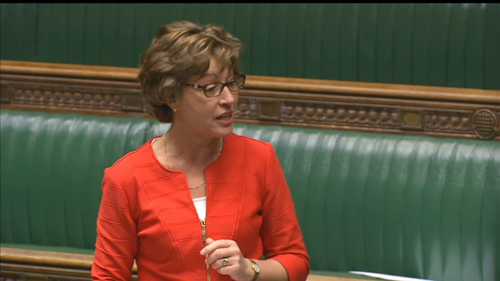 Taunton Deane MP Rebecca Pow speaking in the House of Commons.