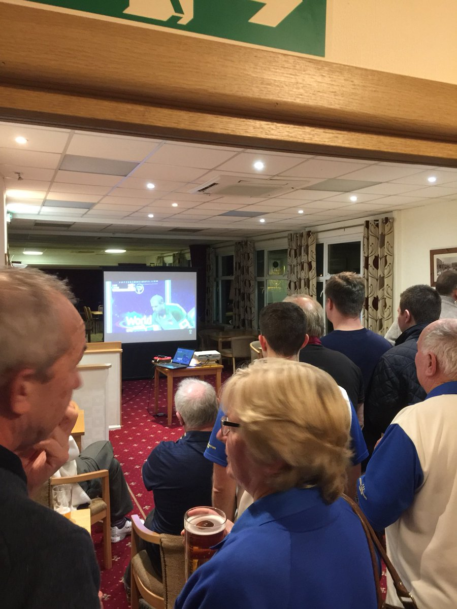 SUPPORT: Ilminster Bowling Club members watching Rob Paxton. Pic: twitter.com/IlminsterBC