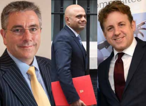 MIXED REACTIONS: Cllr Peter Seib, left, is disappointed, Sajid Javid, centre, thinks he has delivered, and MP Marcus Fysh, right, is pleased