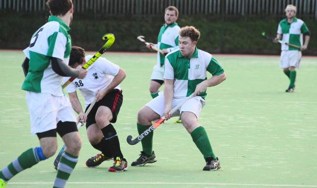 SCRAP: It was a tough weekend for Chard Hockey Club's men's sides. Pic: Steve Richardson