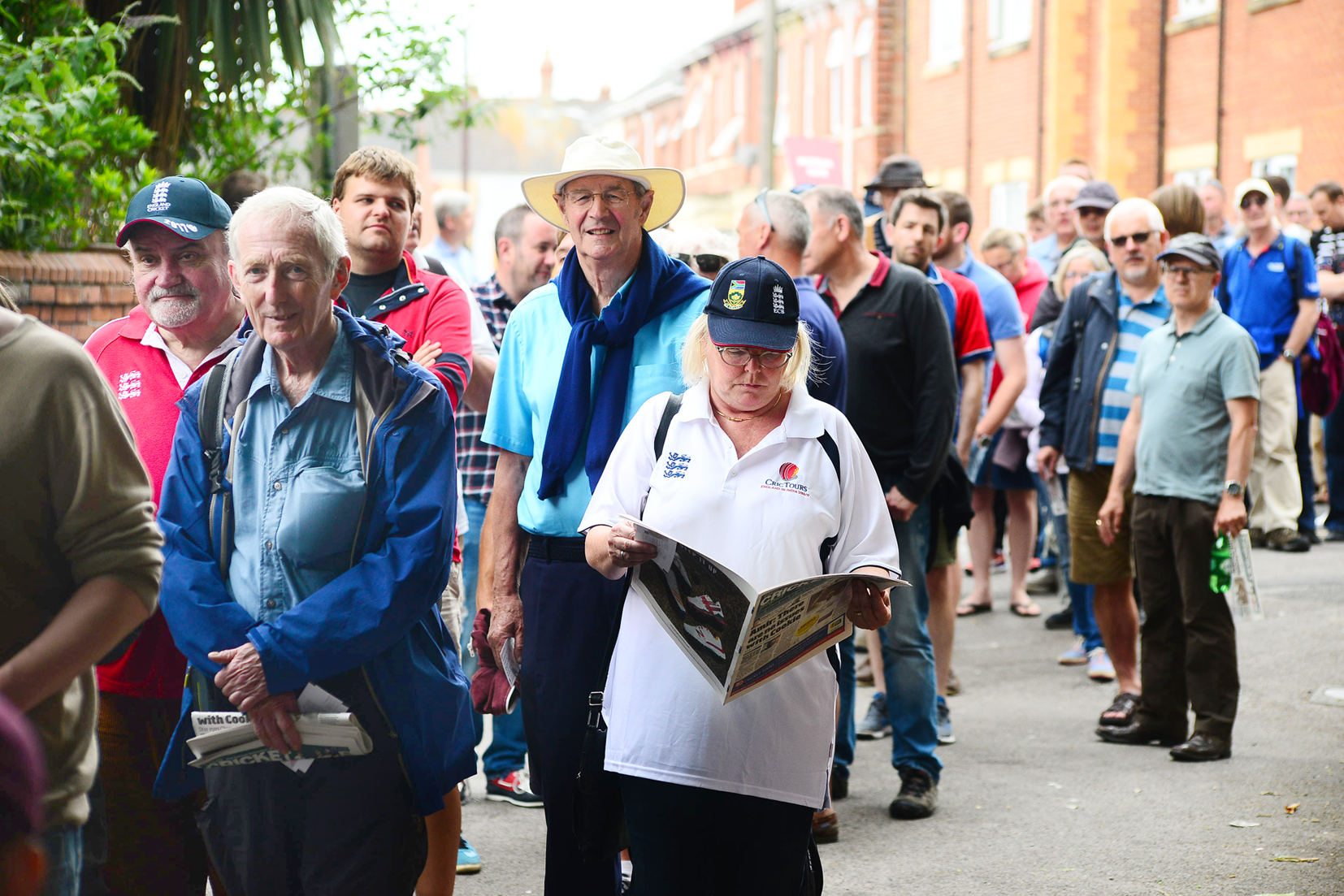 SELL-OUT: England v South Africa attracted a big crowd to Taunton last June.