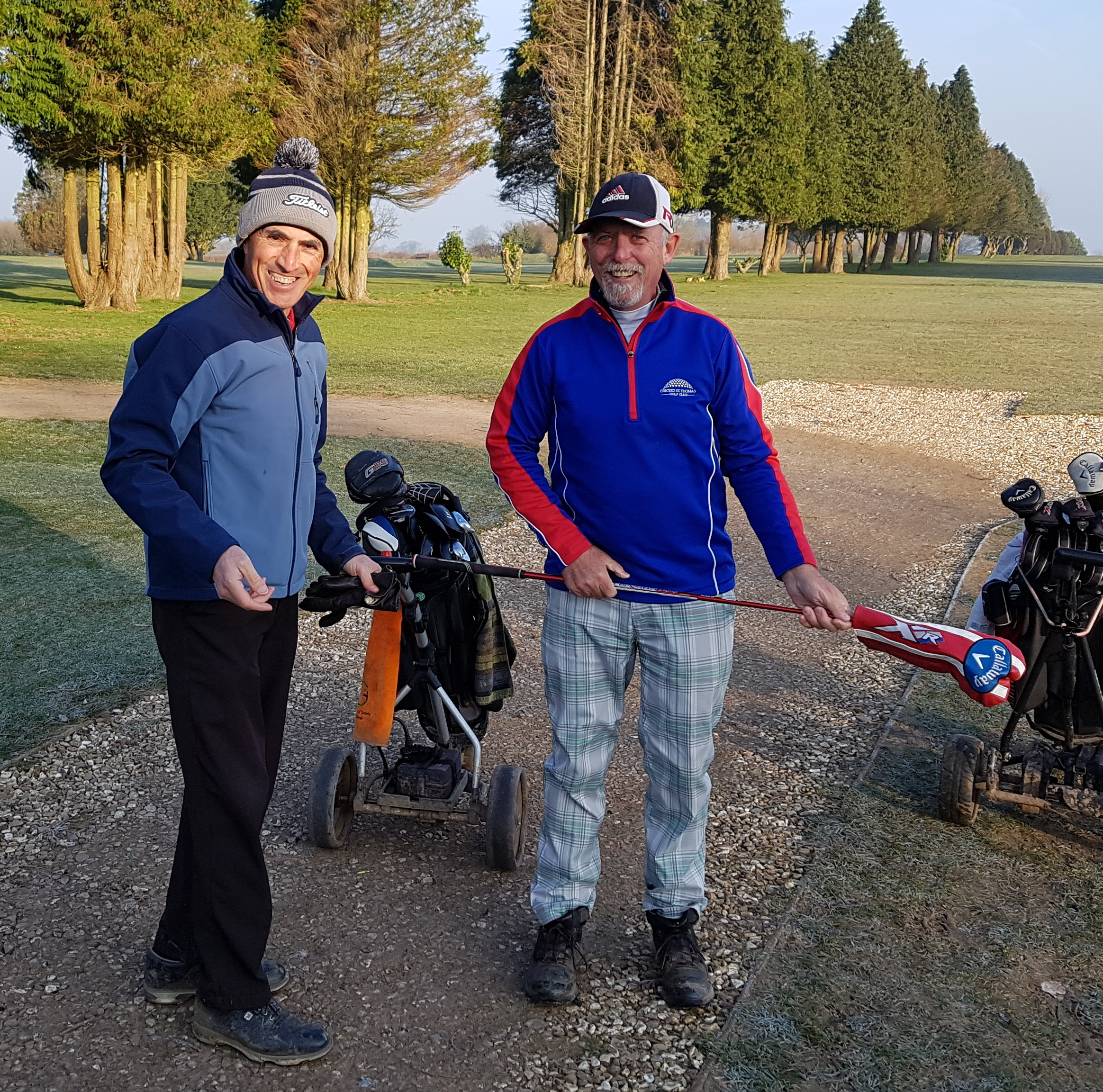 Winter League winners Chris Gingell (left) and James Siabi.
