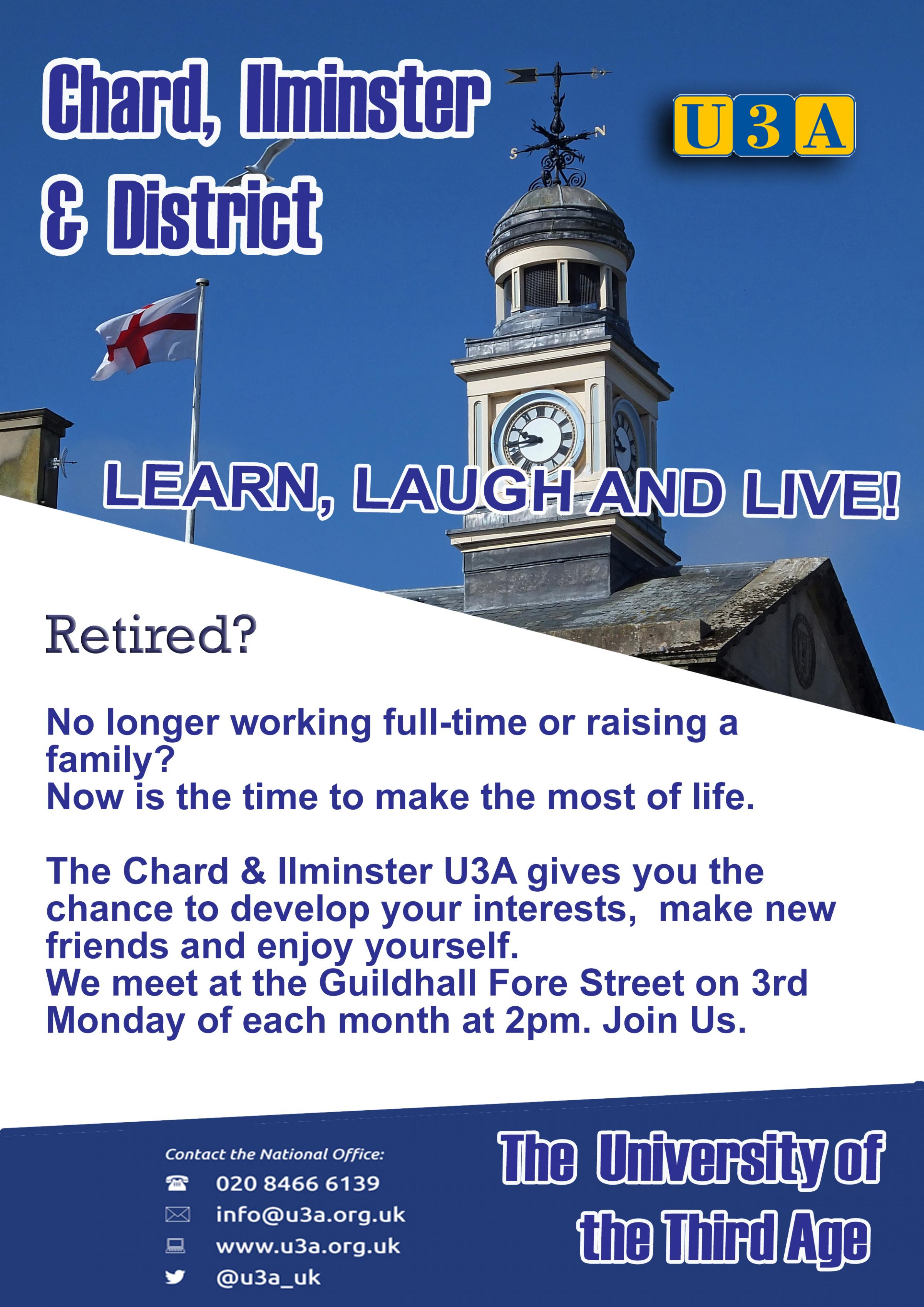 MEET THE U3A. Find out what the U3A can do for you.