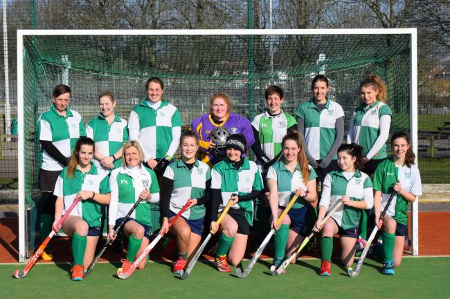 PROMOTION: The triumphant Chard Hockey Club ladies squad.